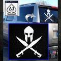 Crossed Spartan Swords Decal Sticker D2 White Emblem 120x120