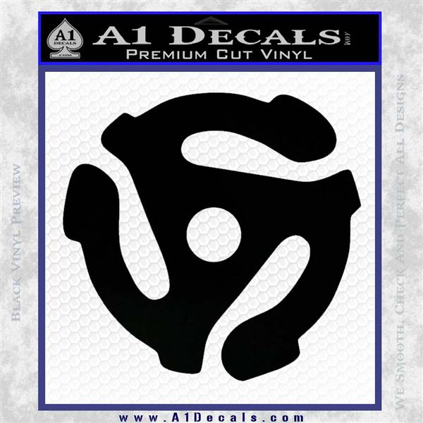 DJ 45 Vinyl Adapter Spider Decal Sticker DS Black Logo Emblem