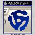 DJ 45 Vinyl Adapter Spider Decal Sticker DS Blue Vinyl 120x120