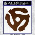 DJ 45 Vinyl Adapter Spider Decal Sticker DS Brown Vinyl 120x120