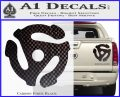 DJ 45 Vinyl Adapter Spider Decal Sticker DS Carbon Fiber Black 120x97