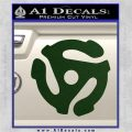 DJ 45 Vinyl Adapter Spider Decal Sticker DS Dark Green Vinyl 120x120