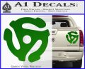 DJ 45 Vinyl Adapter Spider Decal Sticker DS Green Vinyl 120x97