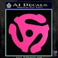DJ 45 Vinyl Adapter Spider Decal Sticker DS Hot Pink Vinyl 120x120