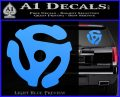 DJ 45 Vinyl Adapter Spider Decal Sticker DS Light Blue Vinyl 120x97