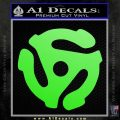 DJ 45 Vinyl Adapter Spider Decal Sticker DS Lime Green Vinyl 120x120
