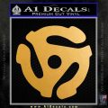 DJ 45 Vinyl Adapter Spider Decal Sticker DS Metallic Gold Vinyl 120x120