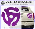 DJ 45 Vinyl Adapter Spider Decal Sticker DS Purple Vinyl 120x97