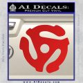 DJ 45 Vinyl Adapter Spider Decal Sticker DS Red Vinyl 120x120