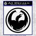 DRAGON OPTICAL LOGO VINYL DECAL STICKER Black Logo Emblem 120x120