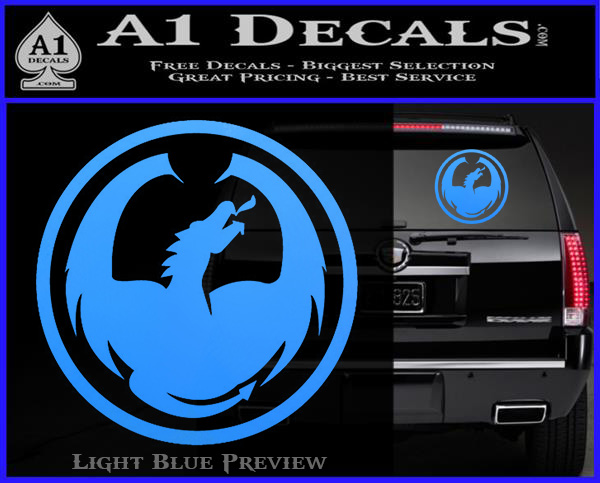 Dragon Optical Logo Decal Sticker 187 A1 Decals