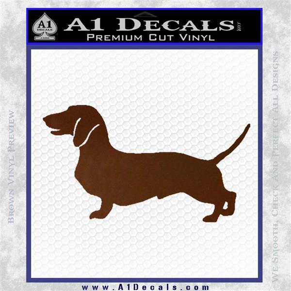 Dachsie Dachshund Dog Decal Sticker Vzl 187 A1 Decals