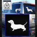 Dachsie Dachshund Dog Decal Sticker VZL White Emblem 120x120