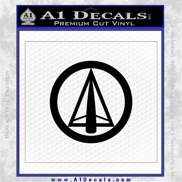 Dark Archer Malcolm Merlyn emblem DLB Decal Sticker Black Logo Emblem