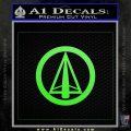 Dark Archer Malcolm Merlyn emblem DLB Decal Sticker Lime Green Vinyl 120x120