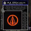Dark Archer Malcolm Merlyn emblem DLB Decal Sticker Orange Vinyl Emblem 120x120