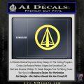 Dark Archer Malcolm Merlyn emblem DLB Decal Sticker Yelllow Vinyl 120x120
