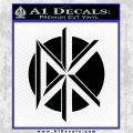 Dead Kennedys DK Logo Decal Sticker Black Logo Emblem 120x120