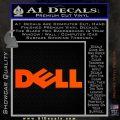 Dell Logo RDZ Decal Sticker Orange Vinyl Emblem 120x120