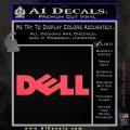 Dell Logo RDZ Decal Sticker Pink Vinyl Emblem 120x120