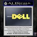 Dell Logo RDZ Decal Sticker Yelllow Vinyl 120x120
