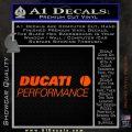 Ducati Performance Decal Sticker Orange Vinyl Emblem 120x120