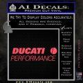 Ducati Performance Decal Sticker Pink Vinyl Emblem 120x120