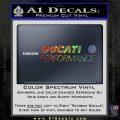 Ducati Performance Decal Sticker Sparkle Glitter Vinyl 120x120