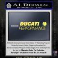 Ducati Performance Decal Sticker Yelllow Vinyl 120x120
