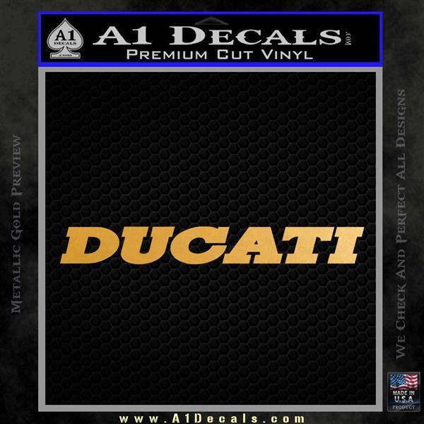 Ducati T3 Decal Sticker Metallic Gold Vinyl