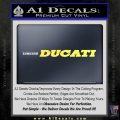 Ducati T3 Decal Sticker Yelllow Vinyl 120x120