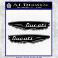 Ducati Wings Retro Decal Sticker Black Logo Emblem 120x120