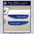 Ducati Wings Retro Decal Sticker Blue Vinyl 120x120