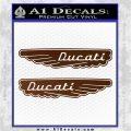 Ducati Wings Retro Decal Sticker Brown Vinyl 120x120