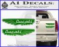 Ducati Wings Retro Decal Sticker Green Vinyl 120x97
