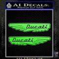 Ducati Wings Retro Decal Sticker Lime Green Vinyl 120x120