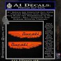 Ducati Wings Retro Decal Sticker Orange Vinyl Emblem 120x120