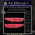 Ducati Wings Retro Decal Sticker Pink Vinyl Emblem 120x120