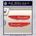 Ducati Wings Retro Decal Sticker Red Vinyl 120x120