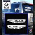 Ducati Wings Retro Decal Sticker White Emblem 120x120