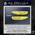 Ducati Wings Retro Decal Sticker Yelllow Vinyl 120x120