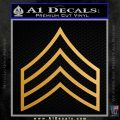 E5 Sergeant Rank Army Decal Sticker Metallic Gold Vinyl 120x120