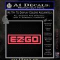 EZ GO Golf Car Cart Decal Sticker Logo Pink Vinyl Emblem 120x120