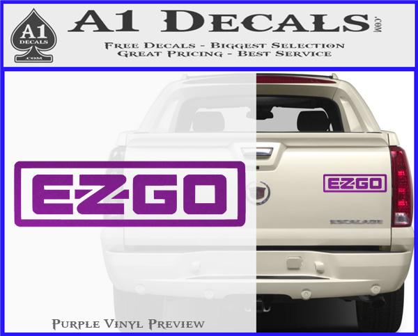 Ez Go Golf Car Cart Decal Sticker Logo A1 Decals