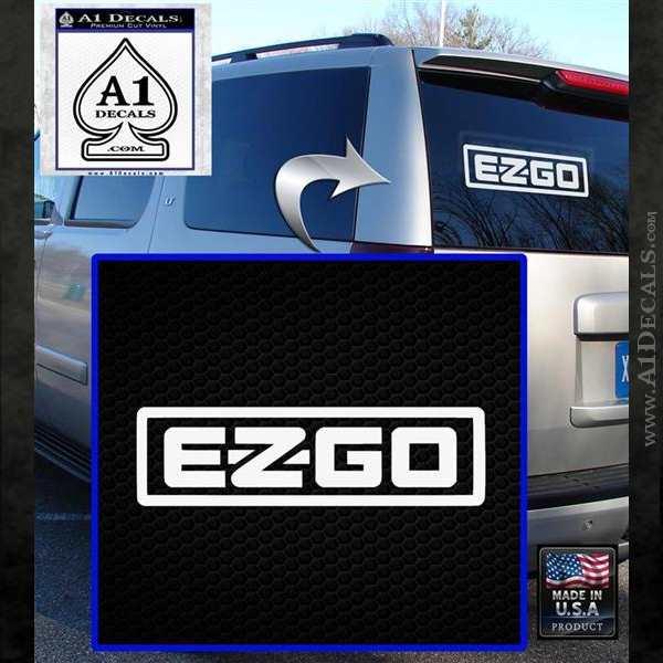 EZ GO Golf Car Cart Decal Sticker Logo White Emblem