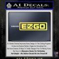 EZ GO Golf Car Cart Decal Sticker Logo Yelllow Vinyl 120x120
