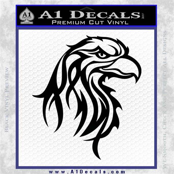 Eagle Tribal Decal Sticker Black Logo Emblem