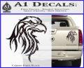 Eagle Tribal Decal Sticker Carbon Fiber Black 120x97