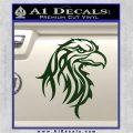 Eagle Tribal Decal Sticker Dark Green Vinyl 120x120