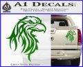 Eagle Tribal Decal Sticker Green Vinyl 120x97